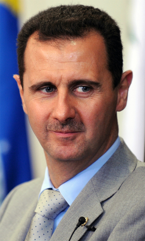 Syrian President Bashar al-Assad, pictured, reportedly used chemical weapons in an attack that killed 1,300 civilians in Damascus on Aug. 21. Credit: Wikimedia Commons.