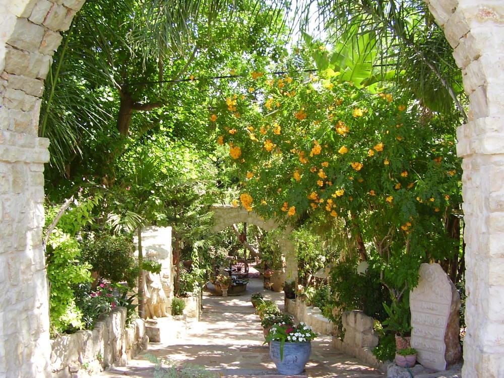 Click photo to download. Caption: The El-Mona Garden in the Druze village of Julis. Credit: Avishai Teicher/PikiWiki Israel.