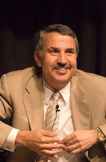 New York Times  columnist Thomas Friedman. Credit: Charles Haynes via Wikimedia Commons.