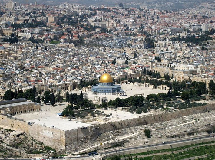 The Temple Mount. Credit: Wikimedia Commons.