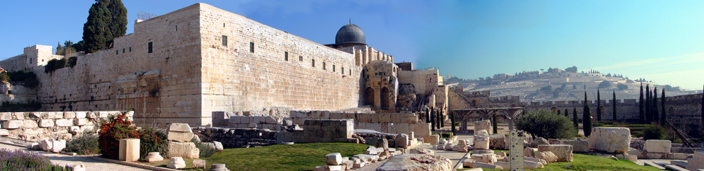 The archaeological excavation area outside the southern wall of the Temple Mount. Credit: Bcrawford92 via Wikimedia Commons.
