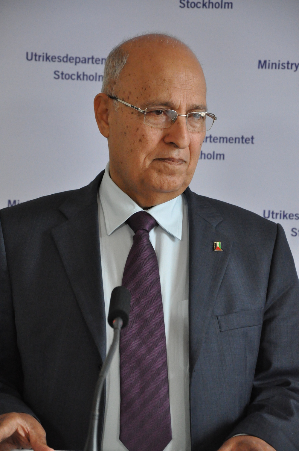 "Pictured is Nabil A. Shaath, the Palestinian Authority's commissioner for international relations. Shaath said U.S. Secretary of State John Kerry ""guaranteed"" the Palestinians in writing that the current Israeli-Palestinian conflict negotiations would start from the 1967 lines. Credit: Wikimedia Commons."
