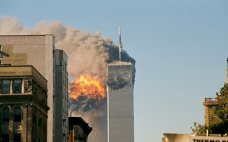A Saudi paper has accused the U.S. of using global terrorism to promote its own agenda while Middle East jihadis praised the September 11 terrorist attack  online on its 12th anniversary.  Credit: Wikimedia Commons.