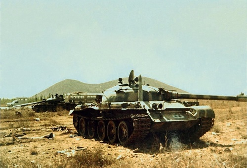 A Syrian T62 tank during the Yom Kippur War. Credit: Egged History Archive<br />via the PikiWiki - Israel free image collection project.