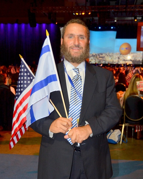 Click photo to download. Caption: Rabbi Shmuley Boteach at the 2012 Christians United for Israel conference. Credit: Maxine Dovere.