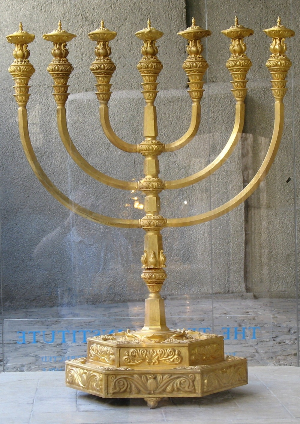 Click photo to download. Caption: Aeplica of the Jewish Temple's menorah, made by The Temple Institute in Israel. Credit: The Temple Institute, Jewish Quarter, Jerusalem via Wikimedia Commons.