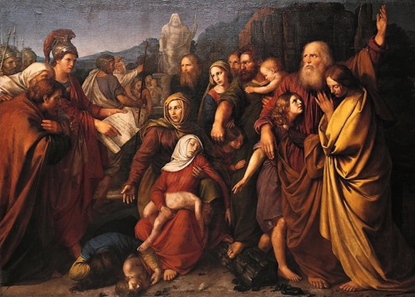 "Click photo to download. Caption: The painting ""Maccabees,"" by Wojciech Stattler (1800–1875). Credit: Wojciech Stattler via Wikimedia Commons."