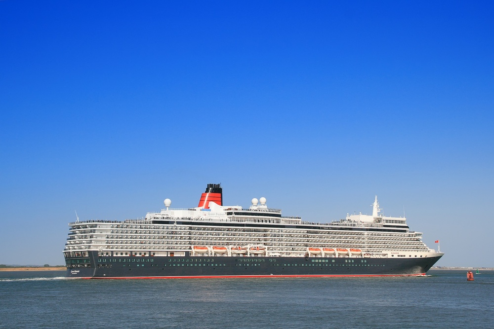 Click photo to download. Caption: The Cunard Cruises ship Queen Elizabeth. Cunard tailors on-board offerings for Hanukkah during voyages that take place during the holiday. Credit: Brian Burnell via Wikimedia Commons.