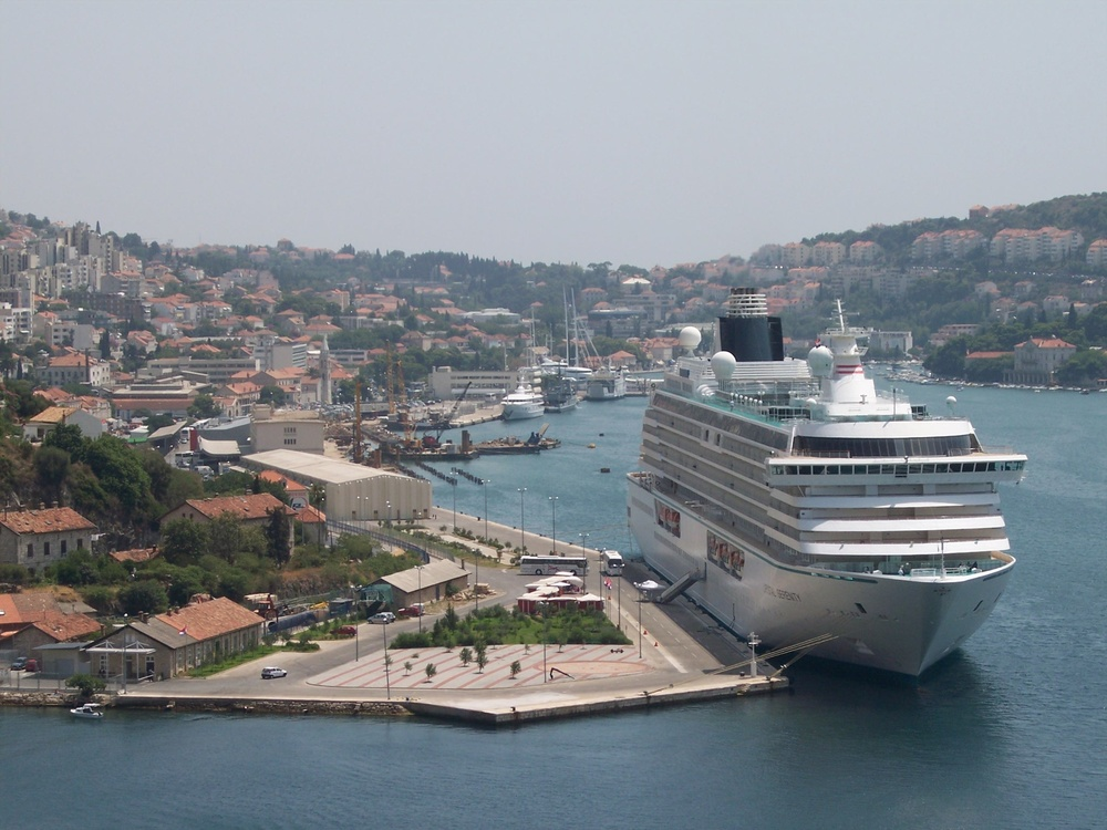 Click photo to download. Caption: The Crystal Serenity of Crystal Cruises in Dubrovnik, Croatia. Crystal will tailor onboard offerings to Hanukkah on voyages that take place during the holiday. Credit: László Szalai via Wikimedia Commons.