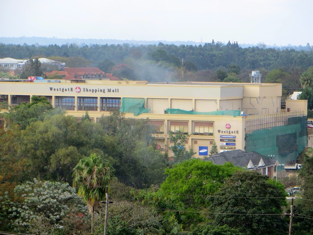 Smoke rises above the Westgate mall in Nairobi on Sept. 23. Credit: Anne Knight via Wikimedia Commons.