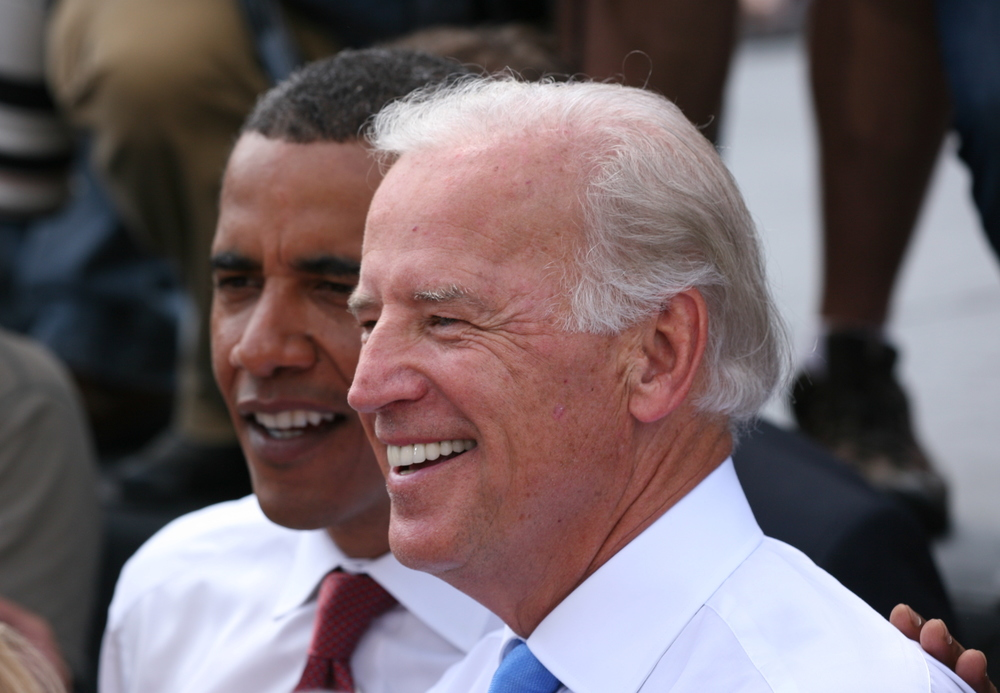 Click photo to download. Caption: Vice President Joe Biden with President Barack Obama. Biden was part of the roster of speakers at this year's J Street conference. Credit: Daniel Schwen via Wikimedia Commons.