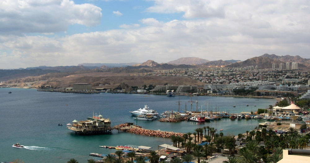 The port of Eilat. Credit: Ester Inbar via Wikimedia Commons.