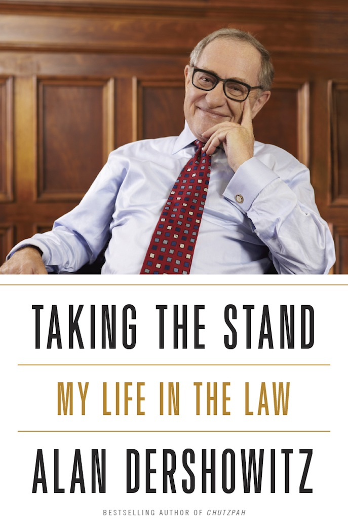 "Click photo to download. The cover of ""Taking the Stand: My Life in the Law,"" the new memoir by Alan Dershowitz. Credit: The Crown Publishing Group.                 0     0     1     7     33     JNS     1     1     39     14.0                            Normal     0                     false     false     false         EN-US     JA     X-NONE                                                                                                                                                                                                                                                                                                                                                                                                                                                                                                                                                                                                                                                                                                                    /* Style Definitions */ table.MsoNormalTable 	{mso-style-name:""Table Normal""; 	mso-tstyle-rowband-size:0; 	mso-tstyle-colband-size:0; 	mso-style-noshow:yes; 	mso-style-priority:99; 	mso-style-parent:""""; 	mso-padding-alt:0in 5.4pt 0in 5.4pt; 	mso-para-margin:0in; 	mso-para-margin-bottom:.0001pt; 	mso-pagination:widow-orphan; 	font-size:10.0pt; 	font-family:""Times New Roman""; 	mso-fareast-language:JA;}"