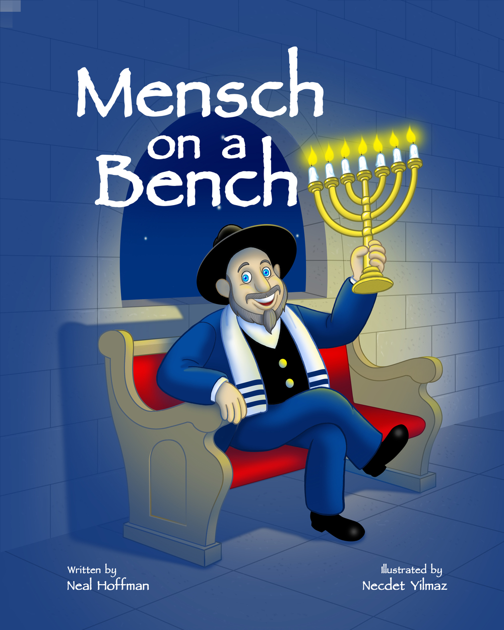 "Click photo to download. Caption: The cover of ""Mensch on a Bench,"" the book that accompanies Moshe the Mensch. Credit: Mensch on a Bench."