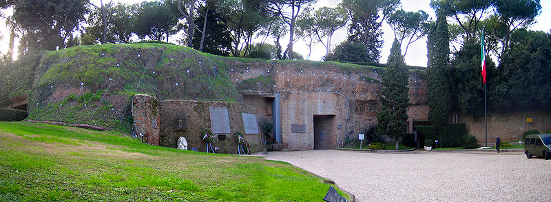 The 1944 massacre of 335 civilians by Nazi forces occurred at the Ardeatine Caves outside Rome. Credit: Wikimedia Commons.