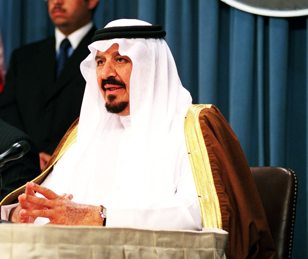 "Click photo to download. Caption: Sultan bin Abdulaziz Al Saud, then the crown prince of Saudi Arabia, in the White House in November 1999. Saudi Arabia has announced a ""major shift"" away from the United States. Credit: DoD photo by R. D. Ward."