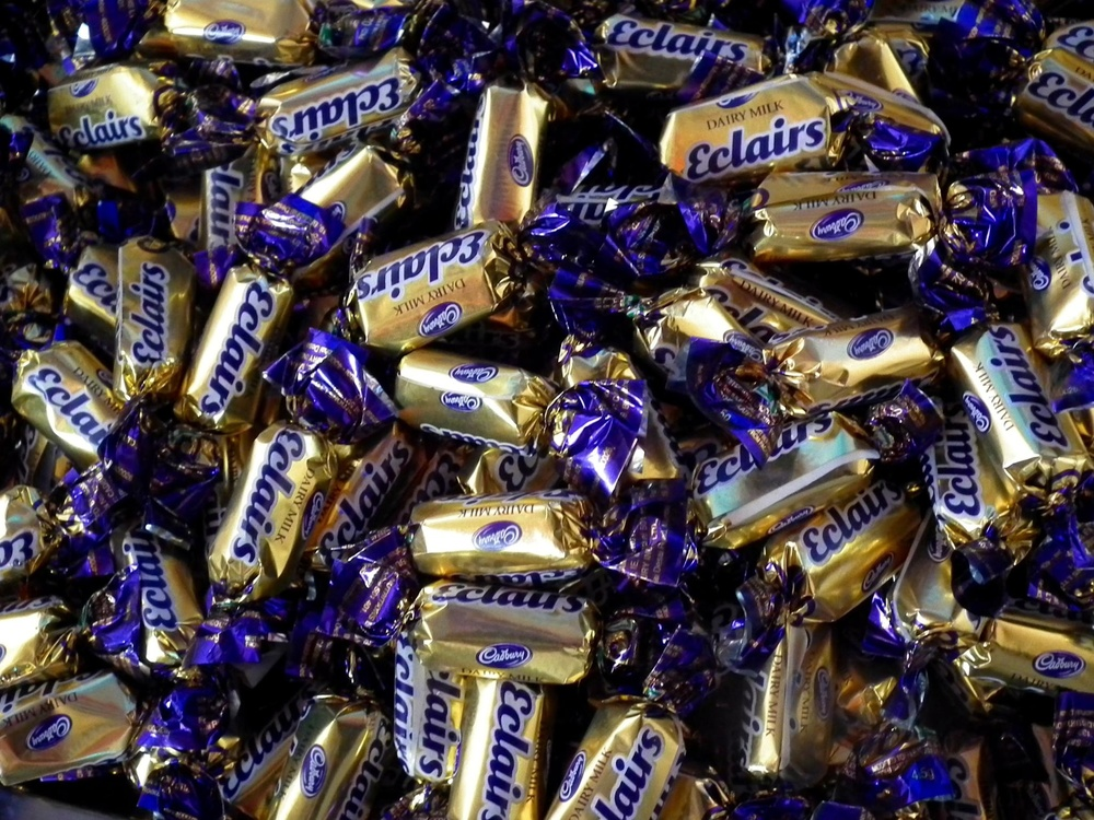 Click photo to download. Caption: Cadbury eclairs. Credit: Ramesh NG via Wikimedia Commons.