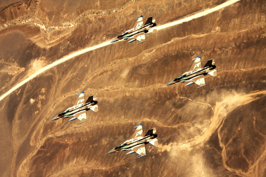Israel Air Force jets. Credit: Wikimedia Commons.