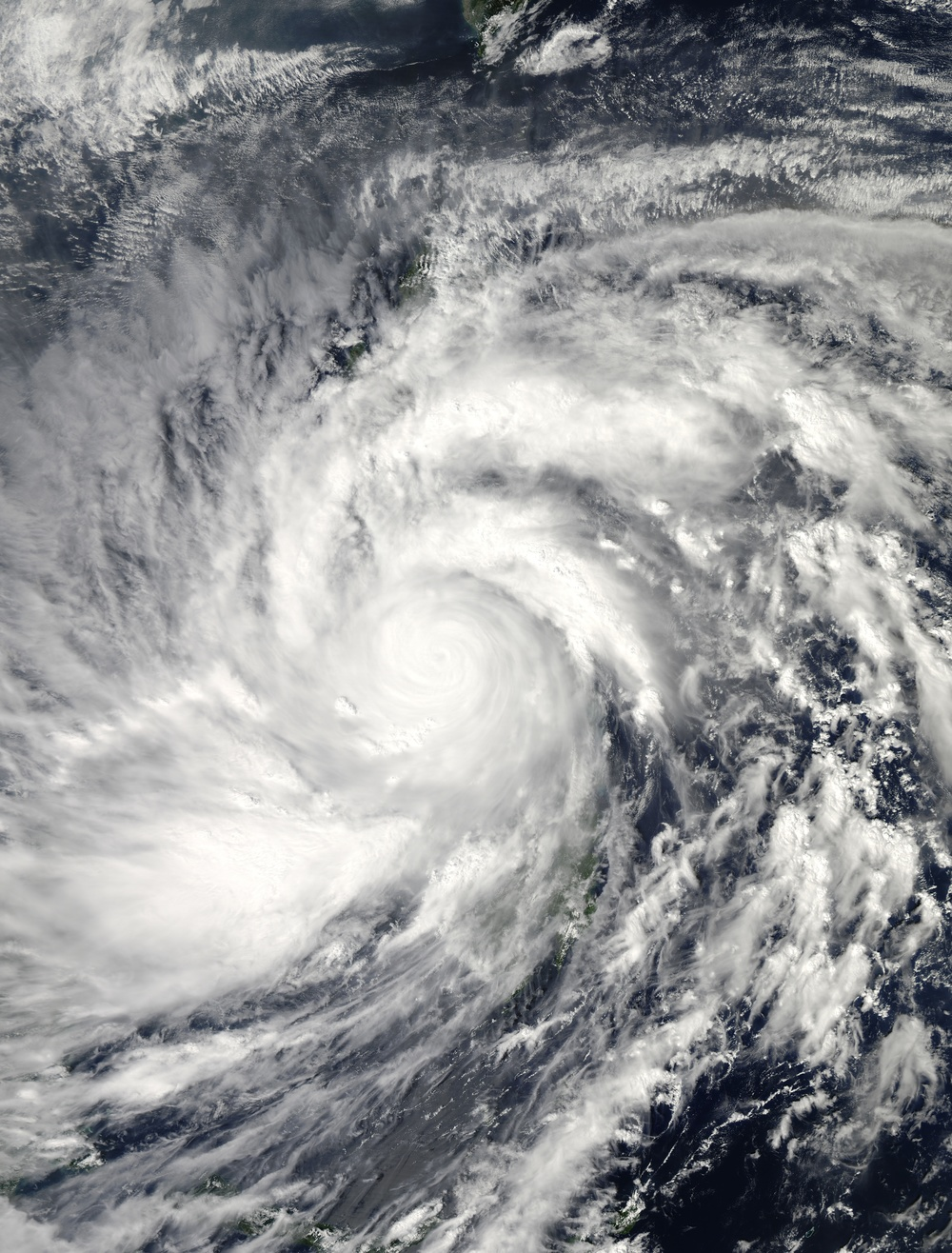 Click photo to download. Caption: Typhoon Haiyan over the Philippines on November 8. Credit: NASA.