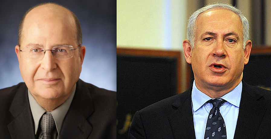 Defense Minister Moshe Ya'alon (left) and Prime Minister Benjamin Netanyahu. Credit: Wikimedia Commons.