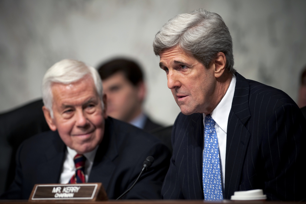 Secretary of State John Kerry, then chairman of the Senate Foreign Relations Committee, speaks at a December 2009 hearing. Credit: U.S. Navy Petty Officer 1st Class Chad J. McNeeley.