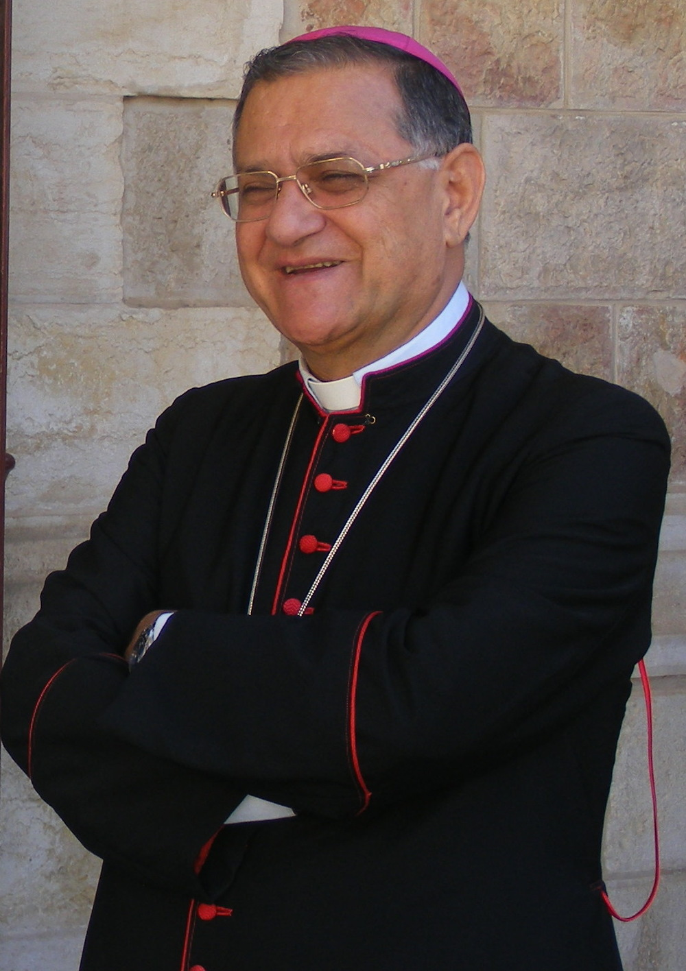 "Latin Patriarch of Jerusalem Fouad Twal, pictured, led the ""International Day of Faith"" in Nazareth. Credit: Wikimedia Commons."
