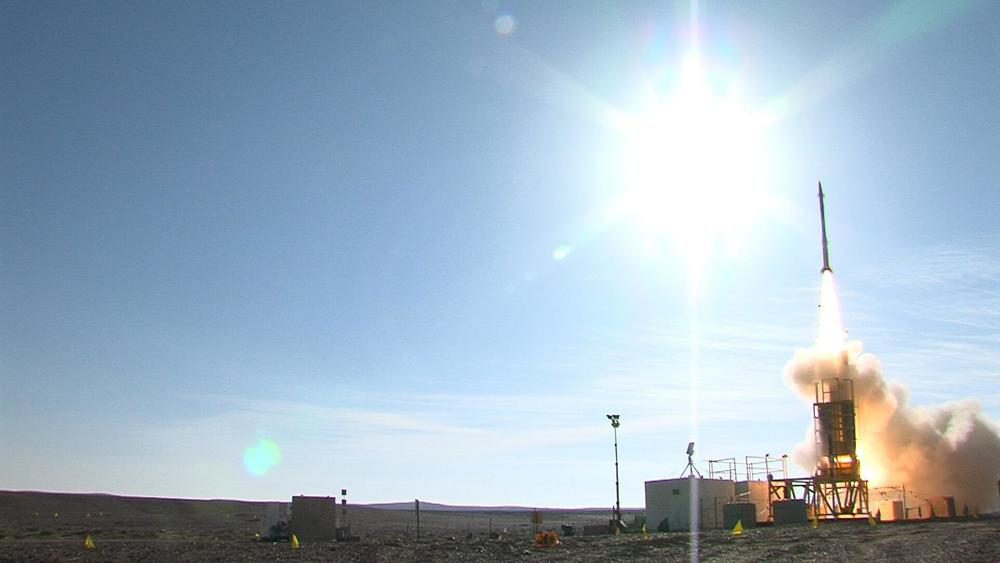 A David's Sling test. Credit:United States Missile Defense Agency.