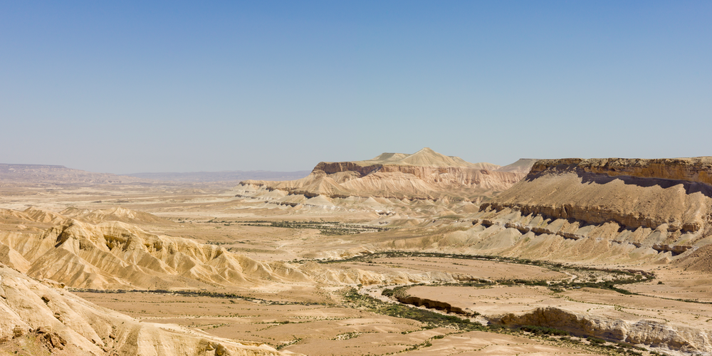 The Negev Desert. Credit: Godot13 via Wikimedia Commons.
