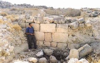 The Tel Beit Betzi historic site, which Israel is concerned about in light of Palestinian Authority digs in the area. Credit: Kfar Etzion Field School.