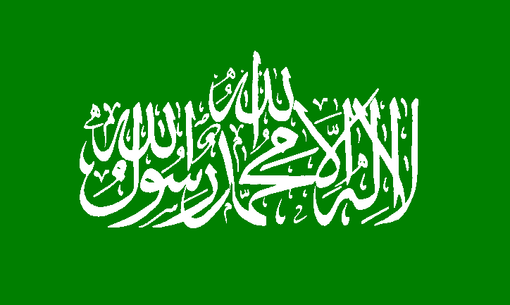 Hamas flag. Thirty percent of Palestinian respondents blame Hamas for the ongoing division between the West Bank and Gaza Strip. Credit: Wikimedia Commons.