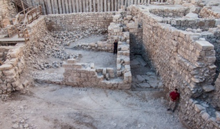 An ancient Hasmonean structure uncovered in Jerusalem's Old City. The discovery was announced during   Hanukkah.   Credit: Israel Antiquities Authority.