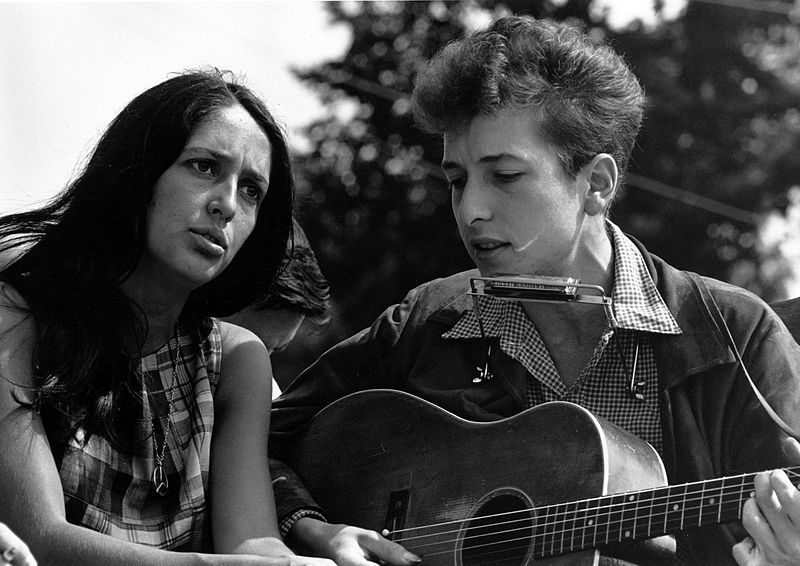 Bob Dylan (right). Credit: Wikimedia Commons.