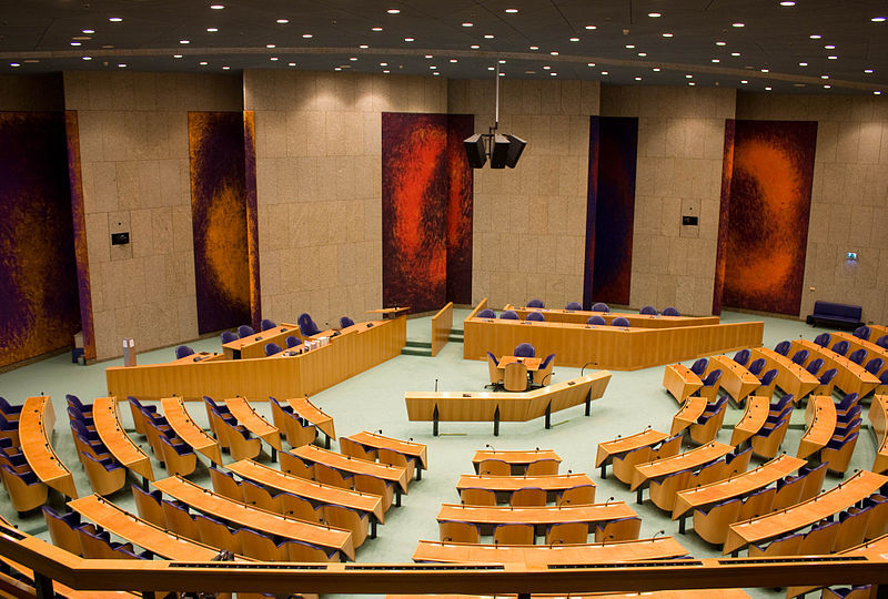 The Second Chamber of the Dutch Parliament. Credit: Wikimedia Commons.