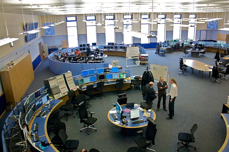 The CERN control center. Credit: Torkild Retvedt via Wikimedia Commons.