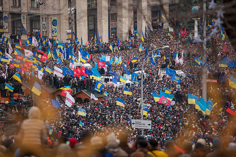 The Euromaidan protests in Kiev, Ukraine. Credit: Wikimedia Commons.