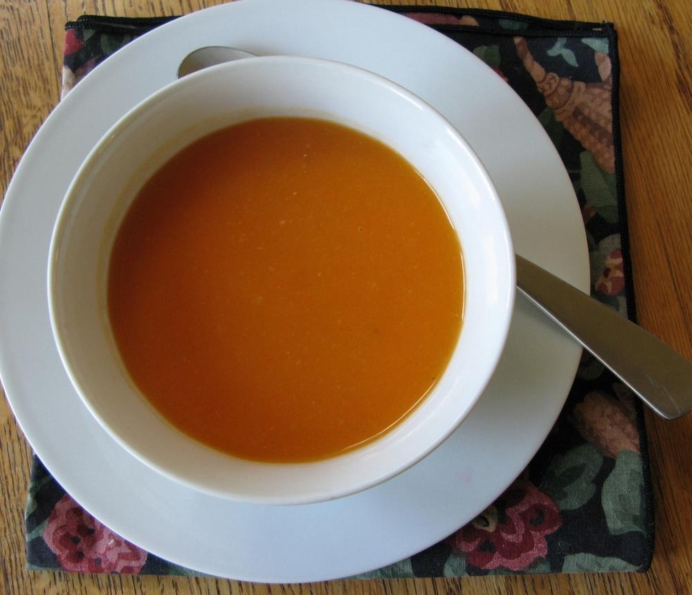 ... to download. Caption: Sweet potato-pear soup. Credit: Mollie Katzen