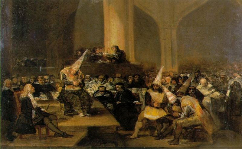Scene from an Inquisition by Francisco Goya (1746-1828). Credit: Wikimedia Commons.