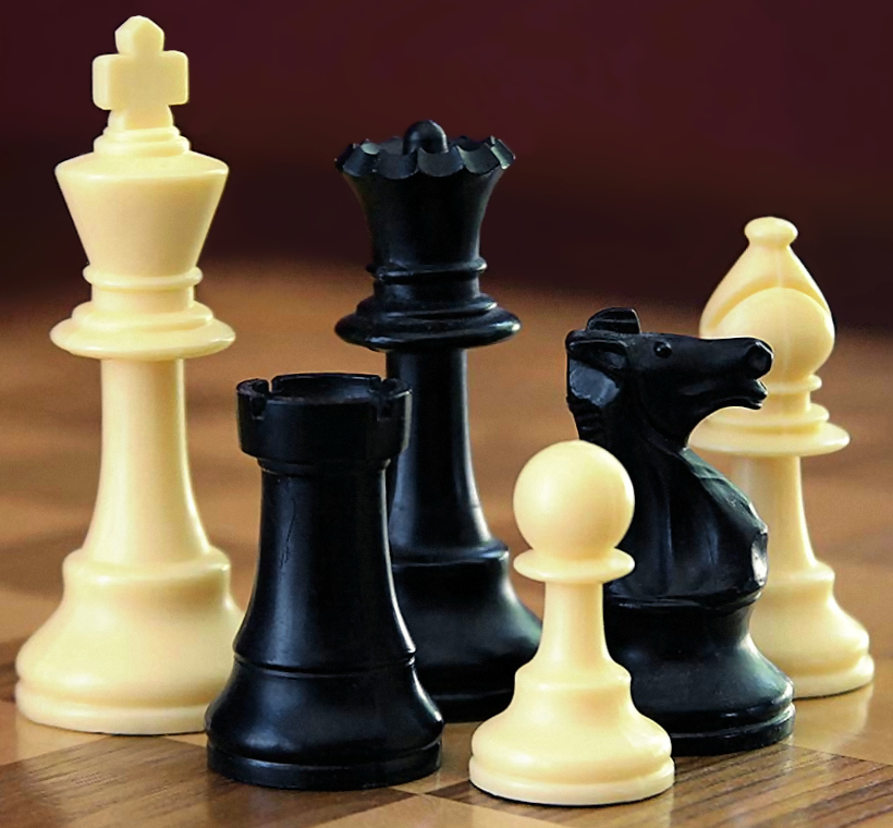 Chess pieces. Credit: Wikimedia Commons.