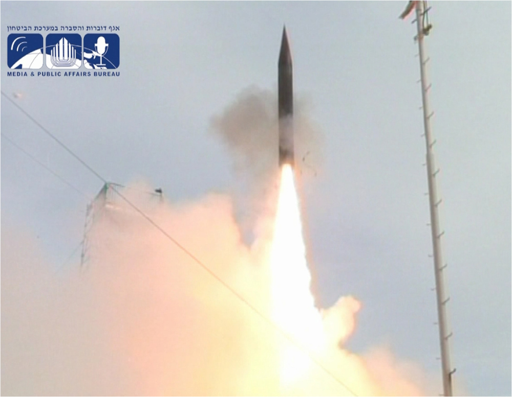 An Arrow 3 test in February 2013. Credit:United States Missile Defense Agency.