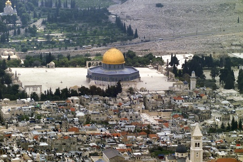 Click photo to download. Caption: A view of the Temple Mount. Credit:<br />Godot13 via Wikimedia Commons.