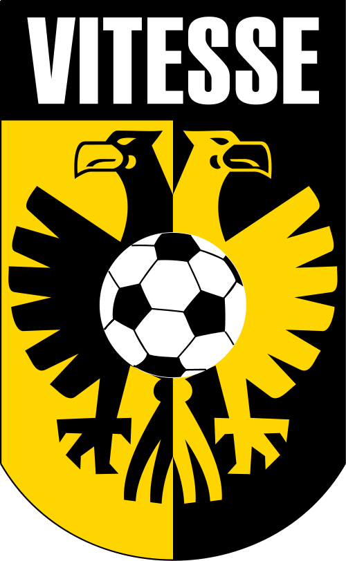 The logo of the Dutch soccer club Vitesse. Credit: Wikimedia Commons.
