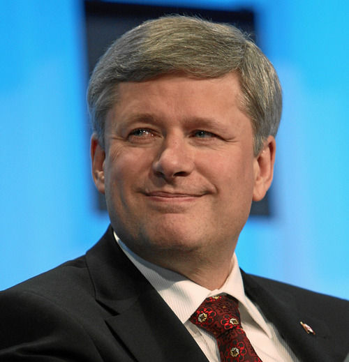 Canadian Prime Minister Stephen Harper. Credit: World Economic Forum -<br />Remy Steinegger.