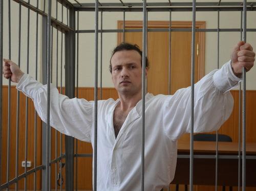 Ilya Farber in prison. Credit: Russian Jewish Congress.