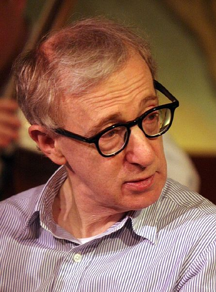 Filmmaker Woody Allen was honored with  the Cecil B. DeMille Award at the 2014 Golden Globes, eliciting harsh criticism from his ex-partner and estranged son on Twitter. Credit: Wikimedia Commons.