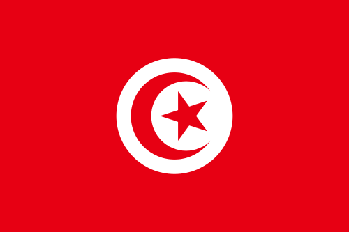 The flag of Tunisia. Credit: Wikimedia Commons.
