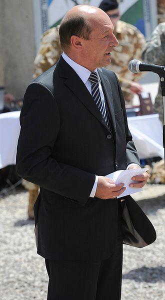 Romanian President Traian Basescu. Credit: Wikimedia Commons.