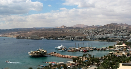 A view of Eilat. Credit: Ester Inbar via Wikimedia Commons.