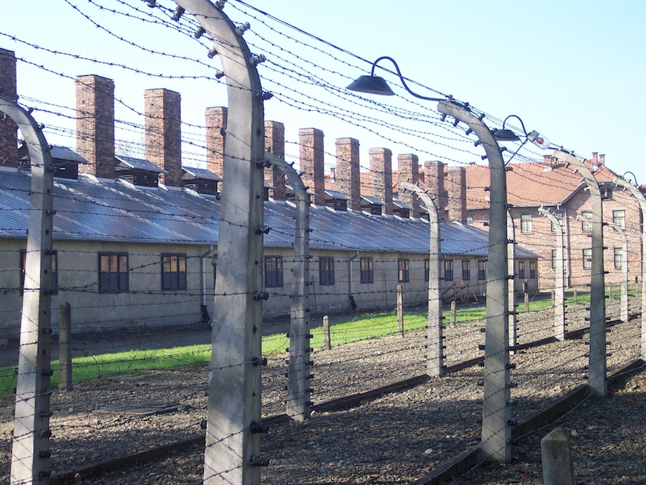 The former Auschwitz concentration camp. Credit: Wikimedia Commons.