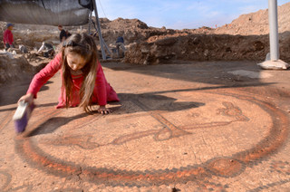 The mosaic floor of a  1,500-year-old Byzantine church  unearthed in southern Israel. Credit: Courtesy of the Israel Antiquities Authority.
