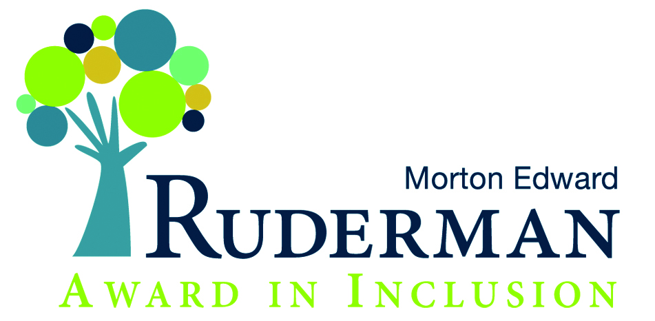 Click photo to download. Caption: The logo for the Ruderman Family Foundation's new Morton E. Ruderman Award in Inclusion.